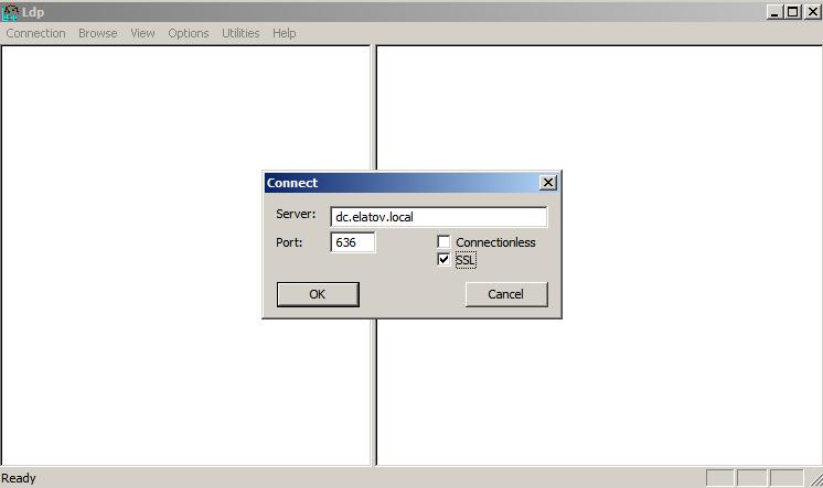 ldp exe ssl Enabling LDAPS on Windows 2008 Active Directory Server