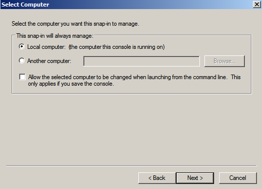 loc comp cert snapin Enabling LDAPS on Windows 2008 Active Directory Server