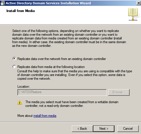 replicate data ad wizrd Configure AD Replication with Windows 2008