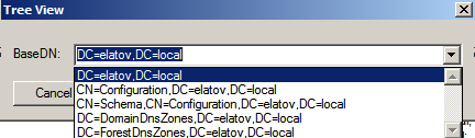 tree view base dn Enabling LDAPS on Windows 2008 Active Directory Server