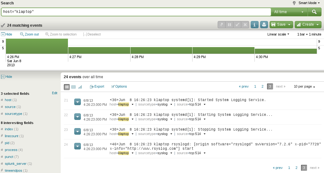 host logs splunk Install Splunk and Send Logs to Splunk with Rsyslog over TCP with SSL