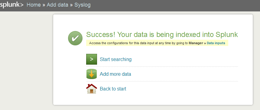 success add syslog tcp Install Splunk and Send Logs to Splunk with Rsyslog over TCP with SSL