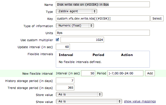zab item prototype after dr Monitor Disk IO Stats with Zabbix