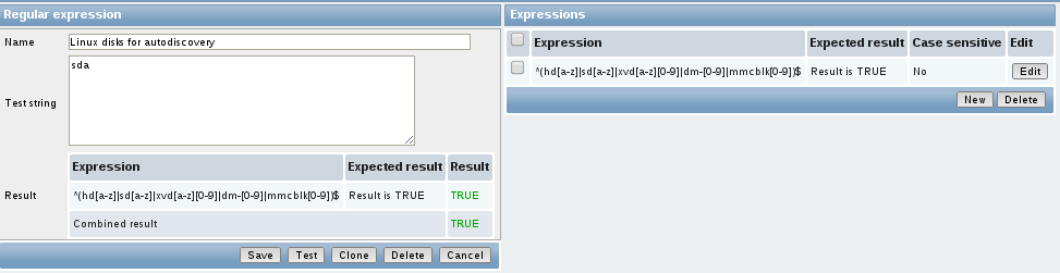 zabbiz reg expression test Monitor Disk IO Stats with Zabbix
