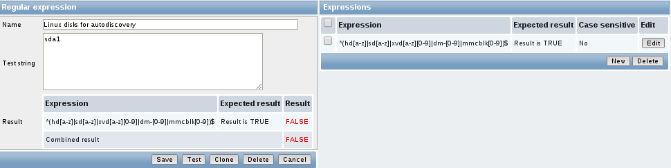 zabbiz reg expression test fail Monitor Disk IO Stats with Zabbix