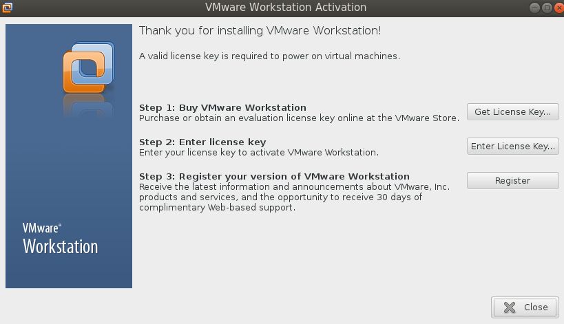 vmware ws enter license key Installing VMware Workstation 9.0.2 on Fedora 19