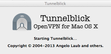 tunnelblick starting Connecting to an OpenVPN Server with Various Clients
