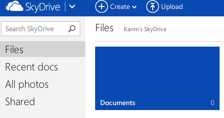 skydrive logged in Syncing Files with Various Cloud Storage Solutions