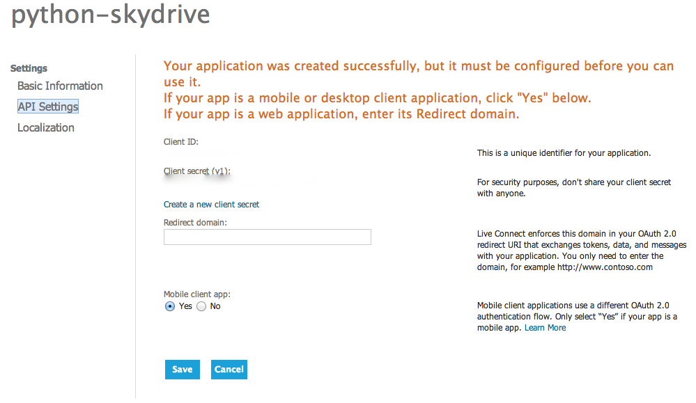 skydrive Api rgistered i Syncing Files with Various Cloud Storage Solutions