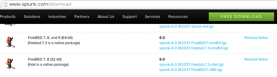 freebsd download Installing Splunk on FreeBSD