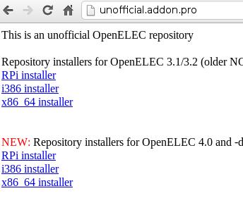openelec unoff repo OpenELEC on Raspberry Pi