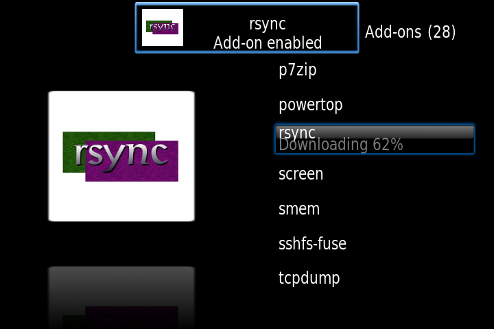 rsync plugin installed OpenELEC on Raspberry Pi