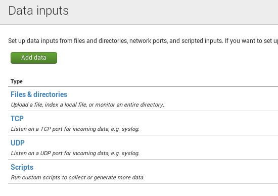 splunk data inputs Installing Splunk on FreeBSD
