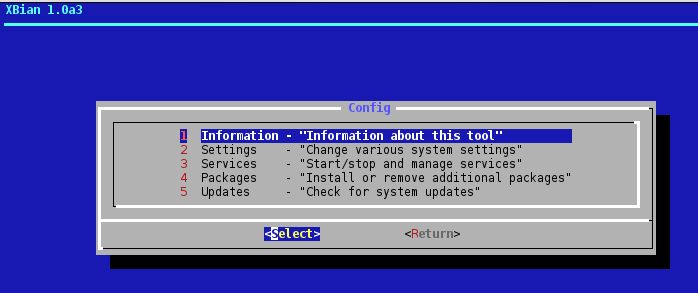 xbian config OpenELEC on Raspberry Pi