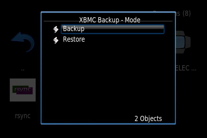 xbmc backup manual backup OpenELEC on Raspberry Pi