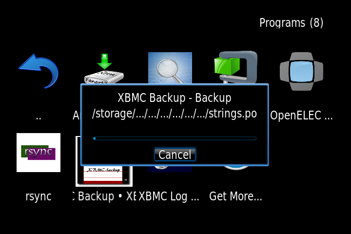 xbmc backup manual backup going OpenELEC on Raspberry Pi
