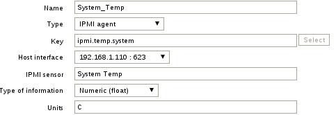 system temp item zabbix Configure IPMI On SuperMicro Server and Monitor IPMI Sensors with Zabbix