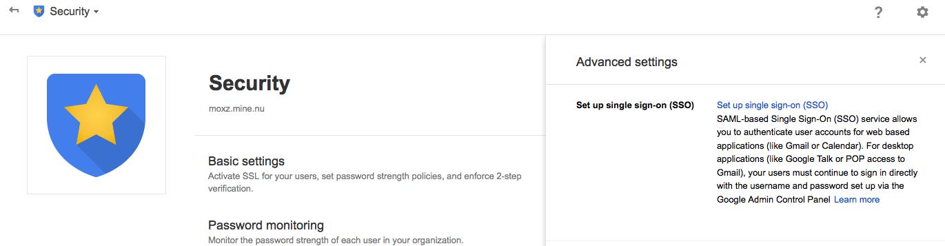 gapps sso settings 1024x266 LemonLDAP NG With LDAP and SAML Google Apps