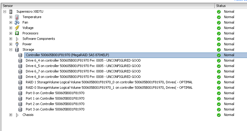 lsi seen sensors Installing LSI CIM Providers for MegaRaid 8704ELP Local Controller on ESXi 5.0
