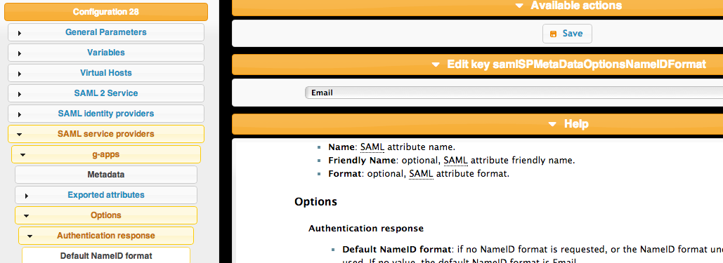 nameid format lemonldap gapps 1024x373 LemonLDAP NG With LDAP and SAML Google Apps