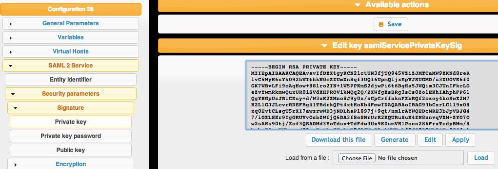 private key generat lemon ldap LemonLDAP NG With LDAP and SAML Google Apps