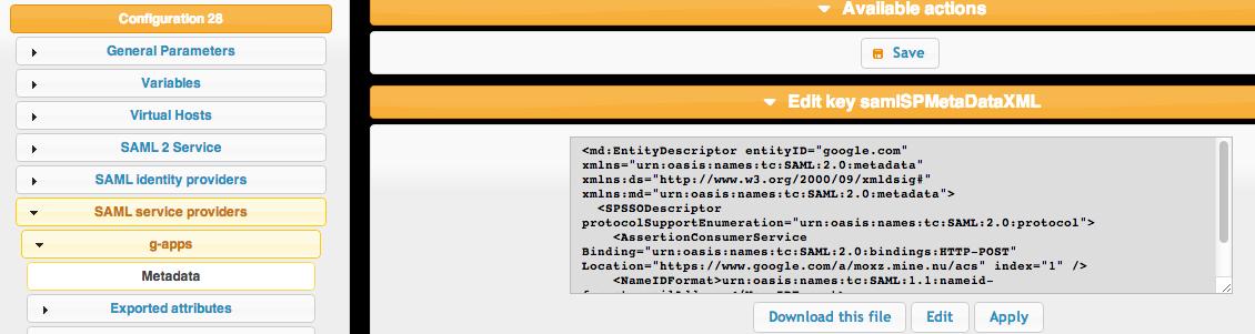 saml metadata for gapps 1024x272 LemonLDAP NG With LDAP and SAML Google Apps