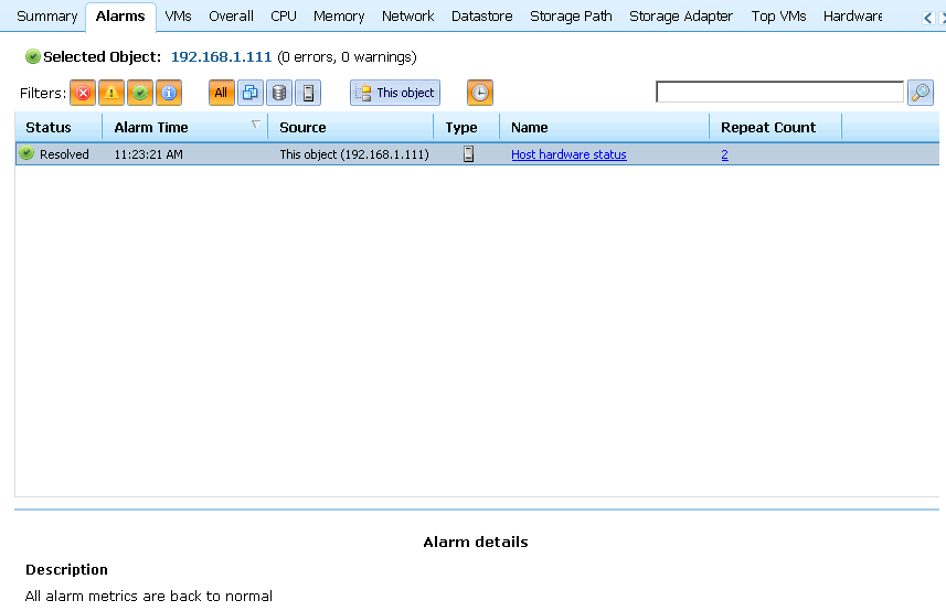 veeam alarms back Installing LSI CIM Providers for MegaRaid 8704ELP Local Controller on ESXi 5.0