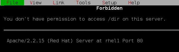 apache denied access RHCSA and RHCE Chapter 14 – Web Services