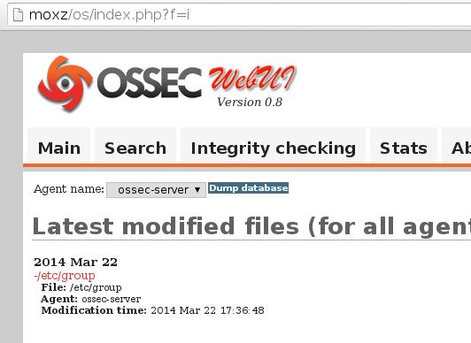 ossec web ui integrity OSSEC on FreeBSD