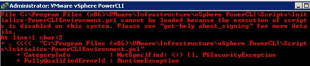 powercli warning policy ESXi on MacMini 6,2