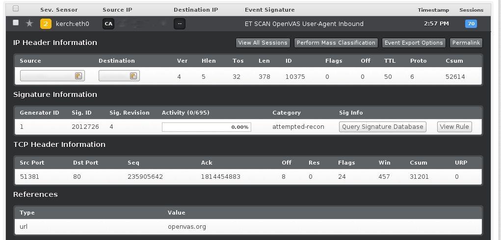 snort catching openvas scan i2 OpenVAS on CentOS