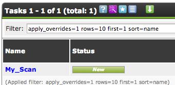 task created OpenVAS on CentOS