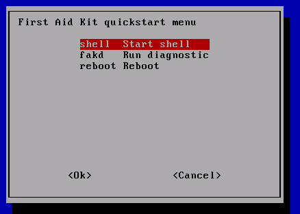 first-aide-quickstart-menu