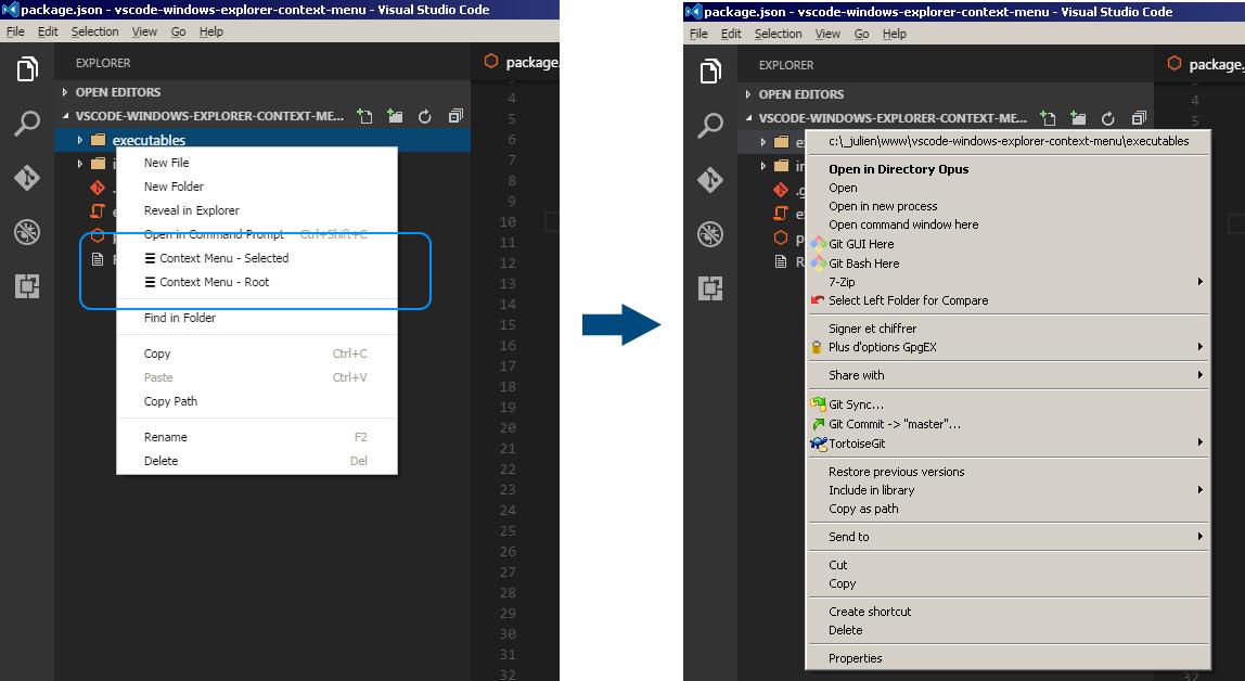 Windows Explorer Context Menu - Visual Studio Marketplace