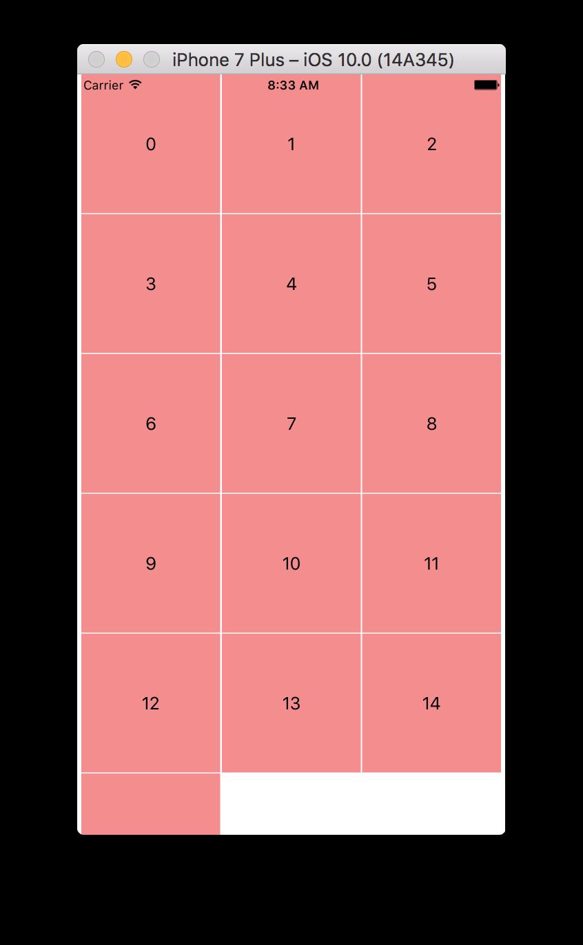 Screenshot of component