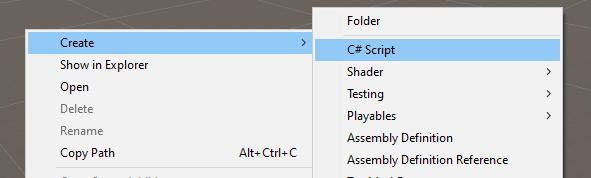 Creating a new script