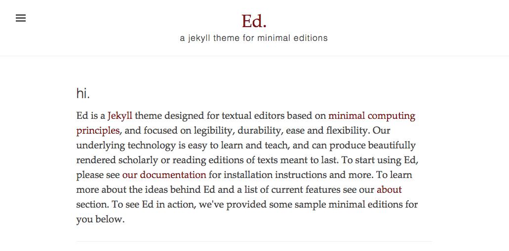 Sample Ed screenshot
