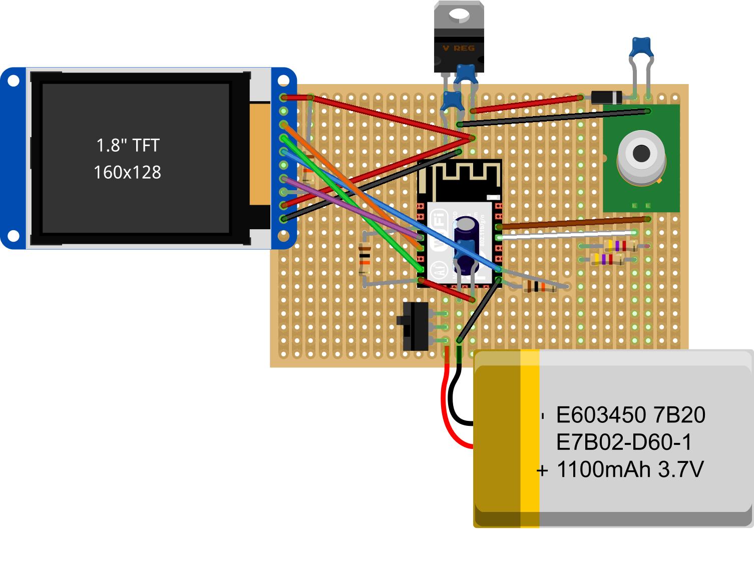 Termika Fotilo schema using an ESP8266