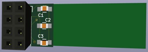 KiCad 3D bot view