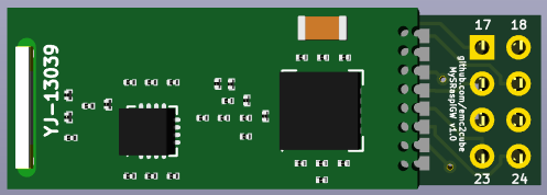 KiCad 3D top view