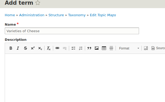 Creating a topic map