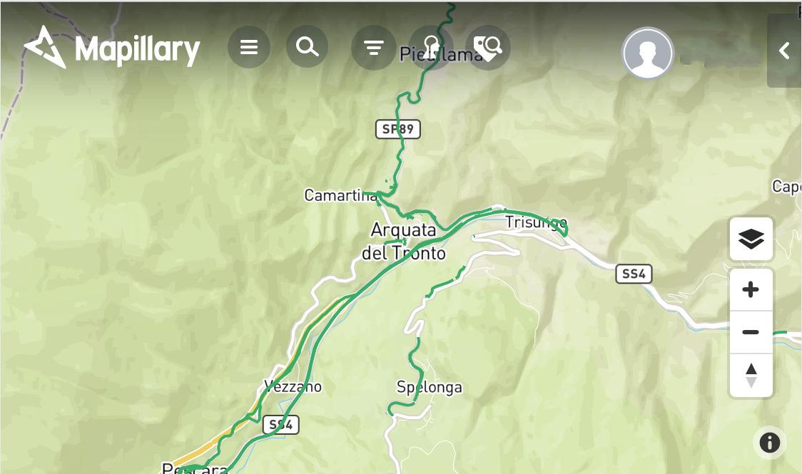 Mapillary Arquata del Tronto