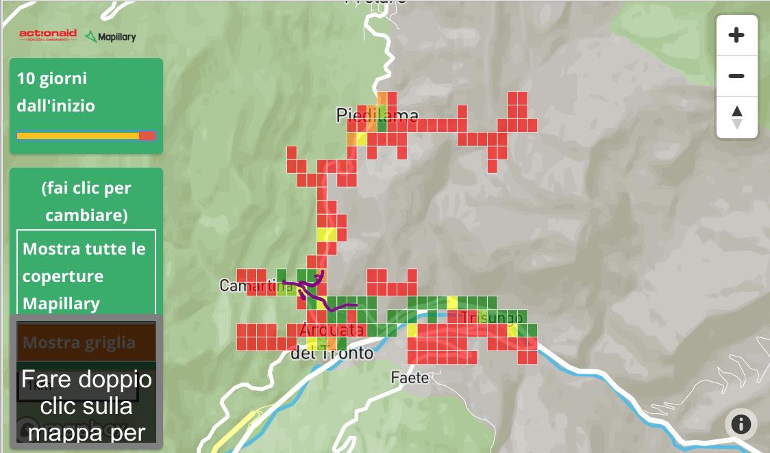 Mapillary challenge Arquata del Tronto