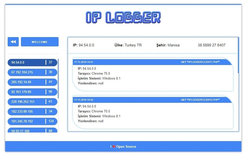 GitHub - emircanerkul/ip-logger: Store visitors ip address in json