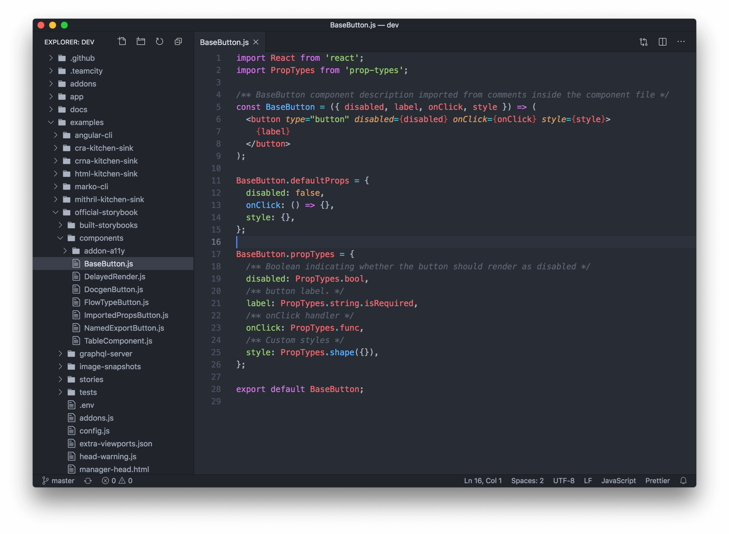 Screenshot of VS Code with Atomize