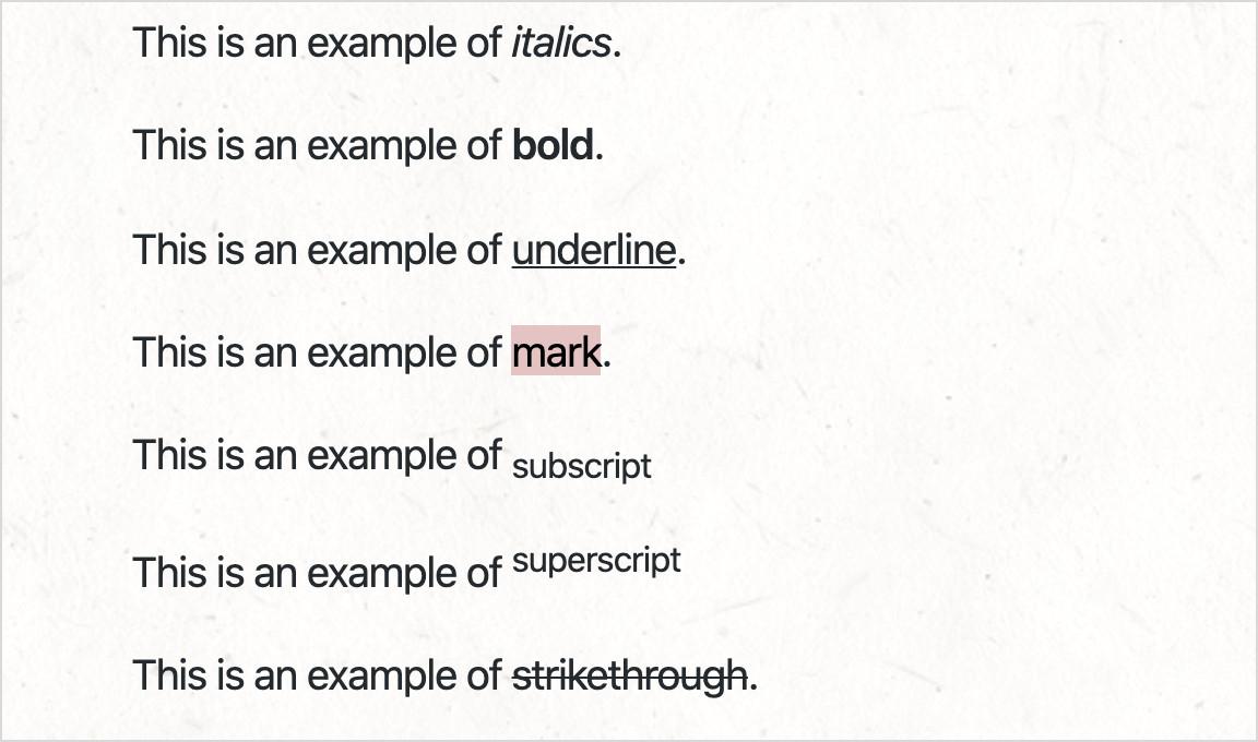 Standard Text Formats