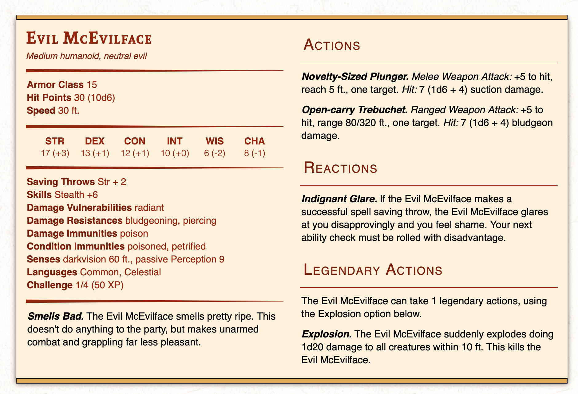 Monster Stat Block with Two Columns