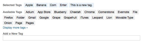 Click Tagging Screenshot