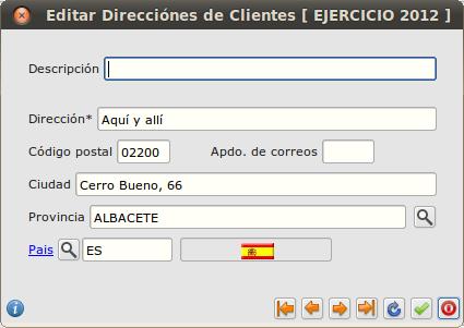 Editar direcciones de clientes