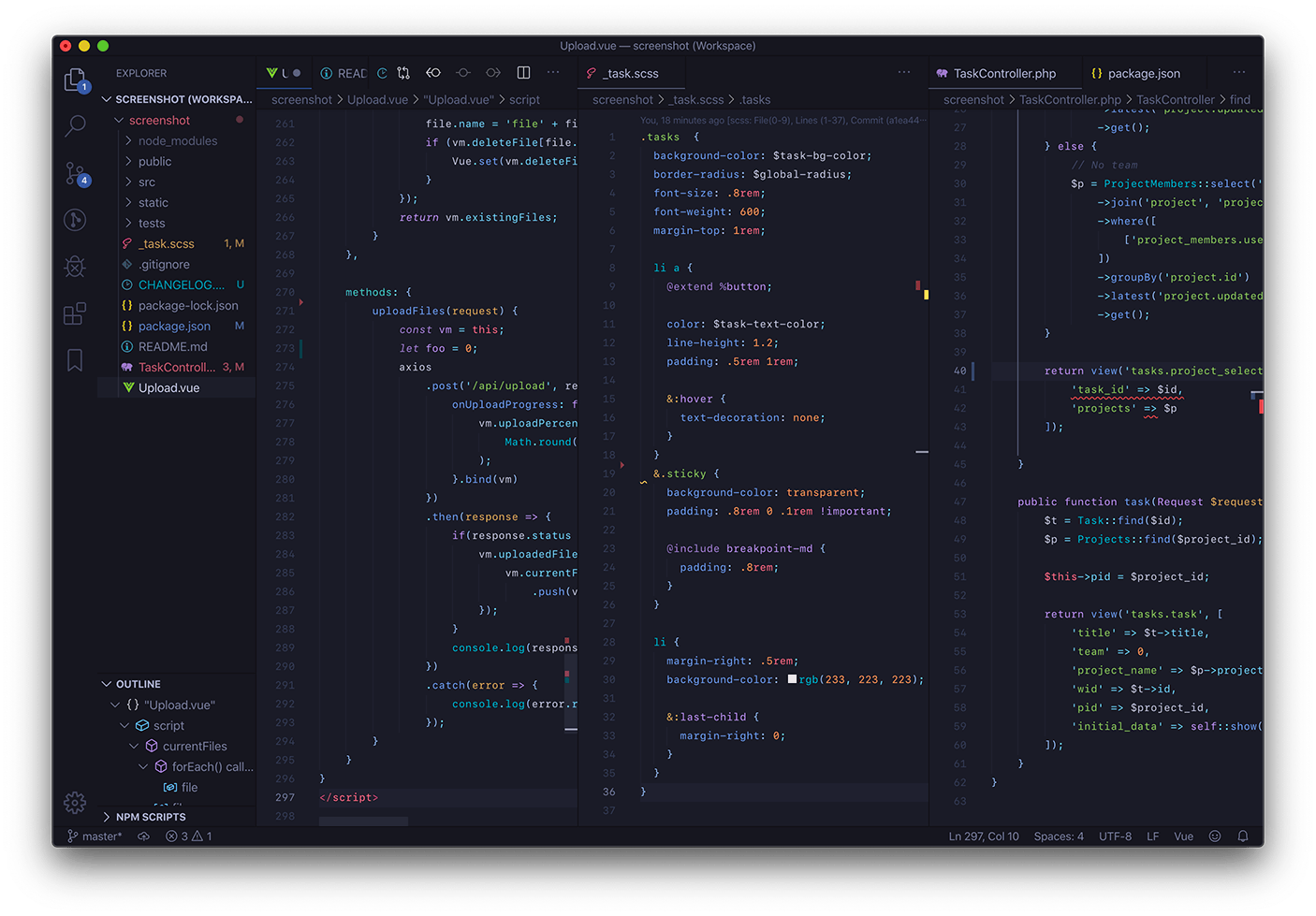 Tokyo Night VS Code theme
